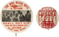 Political:Pinback Buttons (1896-present), Civil Rights: Pair of Scottsboro Boys Protest Buttons.... (Total: 2 Items)
