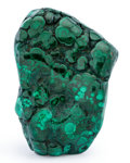 Lapidary Art:Carvings, Polished Malachite. DR Congo. 4.22 x 2.97 x 1.03 inches (10.73 x 7.55 x 2.62 cm). ...
