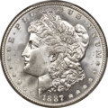 Morgan Dollars, 1887/6 $1 VAM-2, Top 100, MS66+ PCGS. CAC....