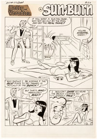 Dan DeCarlo Archie's Girls Betty and Veronica #177 Complete 5-Page Story Original Art (Archie Comics, 1970).... (Total:...