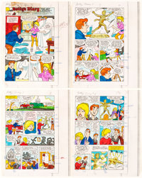 Barry Grossman Betty's Diary #1 Complete 25-Page Color Guide Production Materials Group of 25 (Archie Comics, 1986... (T...