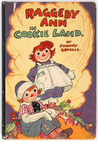 Gruelle Johnny Raggedy Ann In Cookie Land Hardcover First Edition (M. A. Donohue and Co., 1931)