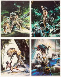 Neal Adams Portfolio Set A and B and Others Print Lot Group of 4 (Sal Q Productions, 1979).... (Total: 4 Items)