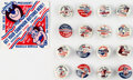 "Premiums:Miscellaneous, Hanna-Barbera Characters ""For President"" Gumball Pinbacks Complete Set of 16 (Hanna-Barbera, 1964).... (Total: 16 Items)"