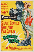 """Movie Posters:Adventure, Green Fire (MGM, 1954). Folded, Fine/Very Fine. One Sheet (27"""" X 41""""). Adventure.. ..."""