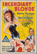 """Movie Posters:Musical, Incendiary Blonde (Paramount, 1945). Folded, Very Fine-. Australian One Sheet (27"""" X 40""""). Musical.. ..."""