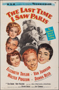 "Movie Posters:Romance, The Last Time I Saw Paris (MGM, 1954). Folded, Fine/Very Fine. One Sheet (27"" X 41""). Romance.. ..."
