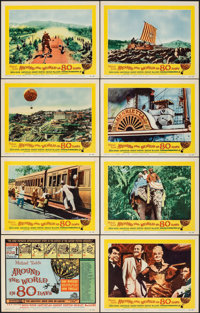 "Around the World in 80 Days (United Artists, 1956). Very Fine-. Lobby Card Set of 8 (11"" X 14""). Adventure..."