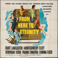 """Movie Posters:Academy Award Winners, From Here to Eternity (Columbia, 1953). Folded, Fine/Very Fine. Six Sheet (81"""" X 81""""). Academy Award Winners.. ..."""