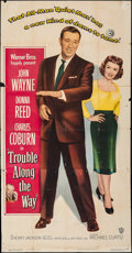 "Movie Posters:Drama, Trouble Along the Way (Warner Bros., 1953). Folded, Fine+. Three Sheet (41"" X 77""). Drama.. ..."
