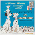 "Movie Posters:Animation, 101 Dalmatians (Buena Vista, R-1969). Folded, Very Fine-. Six Sheet (77"" X 77""). Animation.. ..."