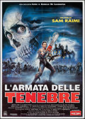 "Movie Posters:Horror, Army of Darkness (Filmauro, 1993). Folded, Very Fine+. Italian 4 - Fogli (55"" X 78""). Enzo Sciotti Artwork. Horror.. ..."