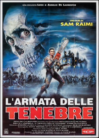 "Army of Darkness (Filmauro, 1993). Folded, Very Fine+. Italian 4 - Fogli (55"" X 78""). Enzo Sciotti Artwork. Ho..."