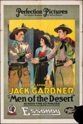 """Movie Posters:Western, Men of the Desert (Essanay, 1917). Rolled, Fine. One Sheet (28"""" X 42""""). Western.. ..."""