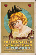 "Movie Posters:Drama, The Crab (Triangle, 1917). Folded, Fine. One Sheet (28"" X 42""). Drama.. ..."