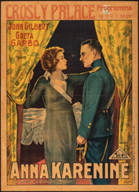 "Anna Karenina (MGM, 1935). Very Good/Fine on Board. Pre-War Belgian (24"" X 33"") Rader Artwork. Drama"