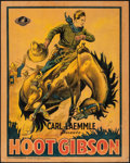 "Movie Posters:Western, Hoot Gibson (Universal, c. 1920s-1930s). Very Good/Fine on Board. Stock Pre-War Belgian (24.75"" X 31.25""). Western.. ..."