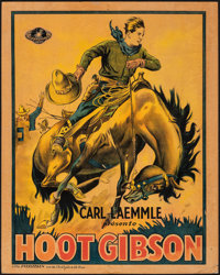 "Hoot Gibson (Universal, c. 1920s-1930s). Very Good/Fine on Board. Stock Pre-War Belgian (24.75"" X 31.25""). Wes..."