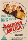 """Movie Posters:Musical, Anchors Aweigh (MGM, 1945). Folded, Very Fine-. Australian One Sheet (27"""" X 40""""). Musical.. ..."""