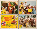 "Movie Posters:Musical, Annie Get Your Gun (MGM, 1950). Fine/Very Fine. Title Lobby Card & Lobby Cards (3) (11"" X 14""). Musical.. ... (Total: 4 Items)"