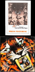 "Movie Posters:Fantasy, Sinbad and the Eye of the Tiger (Columbia, 1977). Very Fine-. Uncut Pressbook (8 Pages, 12"" X 12"") & Presskit (9"" X 12""). Fa..."