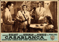 Movie Posters:Academy Award Winners, Casablanca (Warner Bros., R-1948). Fine+. Horizont...