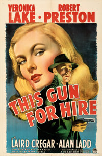 "This Gun for Hire (Paramount, 1942). Folded, Very Fine. One Sheet (27"" X 41"")"