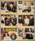 """Movie Posters:Mystery, Dr. Gillespie's Criminal Case (MGM, 1943). Very Fine-. Title Lobby Card & Lobby Cards (5) (11"""" X 14""""). Mystery.. ....."""