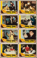 """Movie Posters:Film Noir, Force of Evil (Favorite Attractions, R-1954). Overall: Very Fine-. Lobby Card Set of 8 (11"""" X 14""""). Film Noir.. ......"""