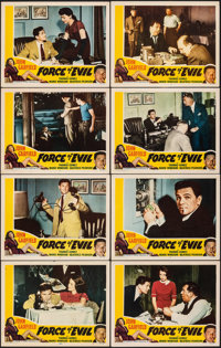"Force of Evil (Favorite Attractions, R-1954). Overall: Very Fine-. Lobby Card Set of 8 (11"" X 14""). Film Noir..."