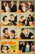 "Movie Posters:Comedy, Free and Easy (MGM, 1941). Fine+. Lobby Card Set of 8 (Approx. 11"" X 14""). Comedy.. ... (Total: 8 Items)"