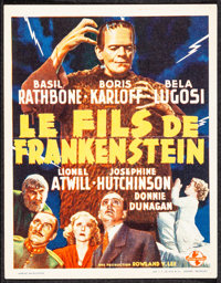 "Son of Frankenstein (Universal, 1939). Folded, Very Fine-. Belgian Herald (4.25"" X 5.5""). Horror"