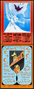 Movie Posters:Rock and Roll, Santana at the Fillmore West & Other Lot (Bill Graham, 1971). Very Fine-. Oversize Concert Promotional Postcards (2) ...