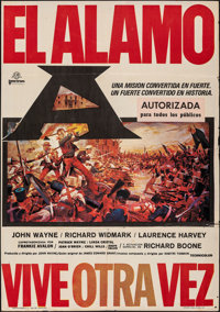 "The Alamo (United Artists, 1960). Folded, Fine/Very Fine. Spanish One Sheet (27"" X 39""). Reynold Brown Artwork..."