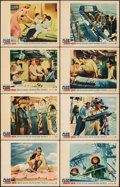 """Movie Posters:War, The Deep Six (Warner Bros., 1958). Very Fine-. Lobby Card Set of 8 (11"""" X 14""""). War.. ... (Total: 8 Items)"""