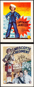 Movie Posters:Musical, Captain January & Other Lot (20th Century Fox, 1938). Very...