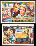 "Movie Posters:Hitchcock, The Man Who Knew Too Much & Other Lot (Paramount, 1956). Overall: Very Fine-. Belgian Heralds (2) (6.25"" X 4"" & 5.75""..."