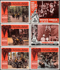 """Movie Posters:Exploitation, The Wild Angels & Other Lot (American International, 1966). Fine/Very Fine. Lobby Cards (6) (11"""" X 14""""). Reynold Brow..."""