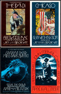 Movie Posters:Rock and Roll, The Byrds at the Fillmore West & Other Lot (Bill Graham, 1970). Very Fine. Oversize Concert Promotional Postcards (2)...