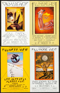 Movie Posters:Rock and Roll, Chuck Berry at the Fillmore West & Other Lot (Bill Graham, 1970). Very Fine. Oversize Concert Promotional Postcards (2) (9.2... (Total: 2 Items)
