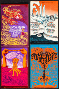 Eric Burdon and the Animals at the Fillmore West & Other Lot (Bill Graham, 1968). Folded, Very Fine-. Concert Promot...