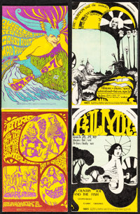 Jefferson Airplane at Winterland & Other Lot (Bill Graham, 1967). Folded, Very Fine. Concert Promotional Postcards (...