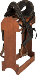 Entertainment Collectibles:Circus, Circus and Wild West Show Performer: Kit Carson, Jr. Leather Show Saddle....