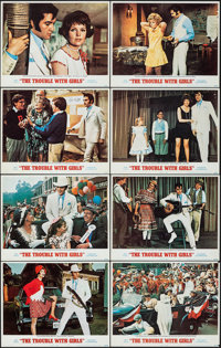 "The Trouble with Girls (MGM, 1969). Very Fine-. Lobby Card Set of 8 (11"" X 14""). Elvis Presley. ... (Total: 8..."