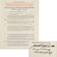 1938 Lou Gehrig Signed New York Yankees Player's Contract, PSA/DNA Gem Mint 10