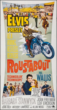 """Roustabout (Paramount, 1964). Folded, Very Fine. Three Sheet (41"""" X 78""""). Elvis Presley"""