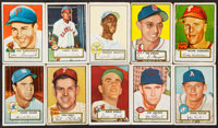 1952 Topps Baseball Partial Low & Middle Series Run (173/310) Plus 6 High Numbers