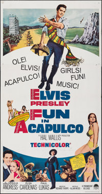 "Fun in Acapulco (Paramount, 1963). Folded, Fine/Very Fine. Three Sheet (41"" X 79""). Elvis Presley"