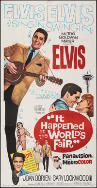 "It Happened at the World's Fair (MGM, 1963). Folded, Fine/Very Fine. Three Sheet (41"" X 79""). Elvis Presley..."