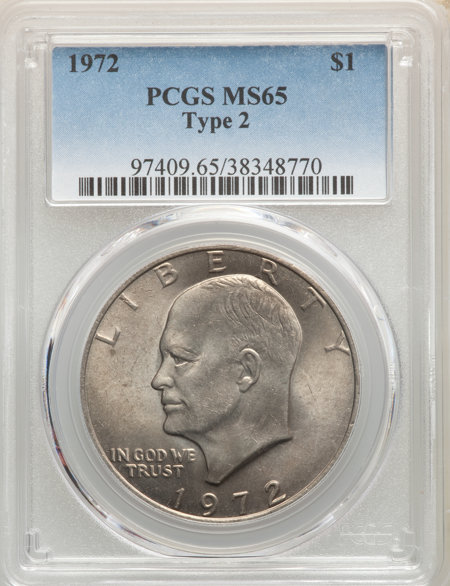 1972 Type Two $1 65 PCGS